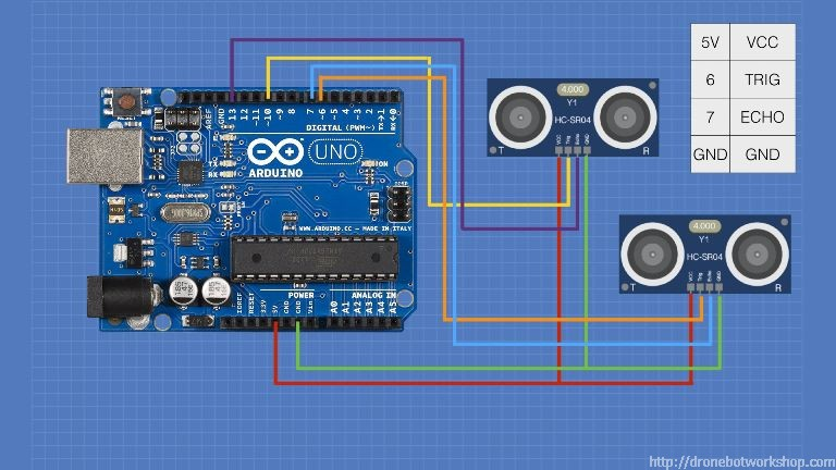 HC-SR04 Ultrasonic Distance Sensor with Arduino | DroneBot Workshop
