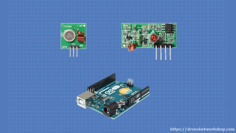 Using 433MHz RF Modules with Arduino   DroneBot Workshop
